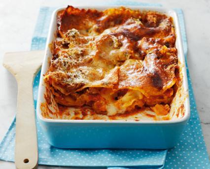 Lasagne s rajčatovou omáčkou