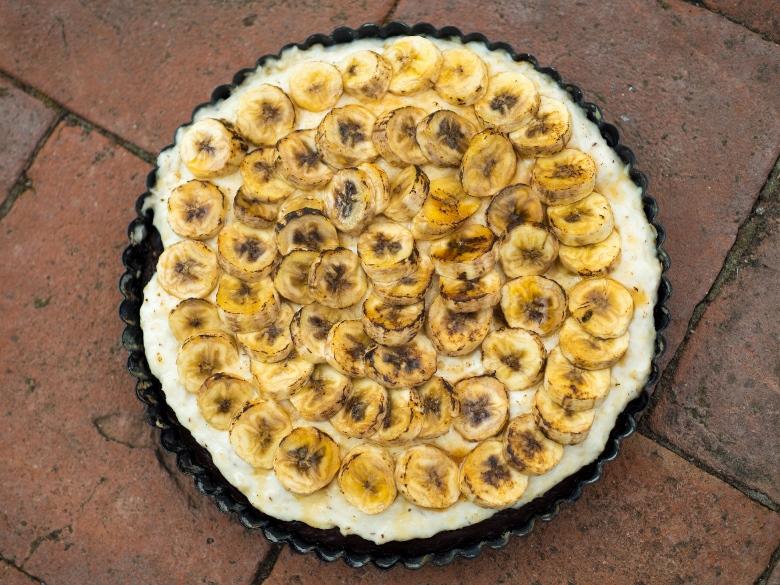 Kakaovo-banánový koláč