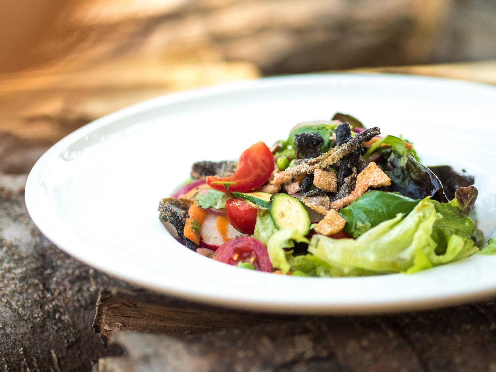 Křupavý salát s koriandrem
