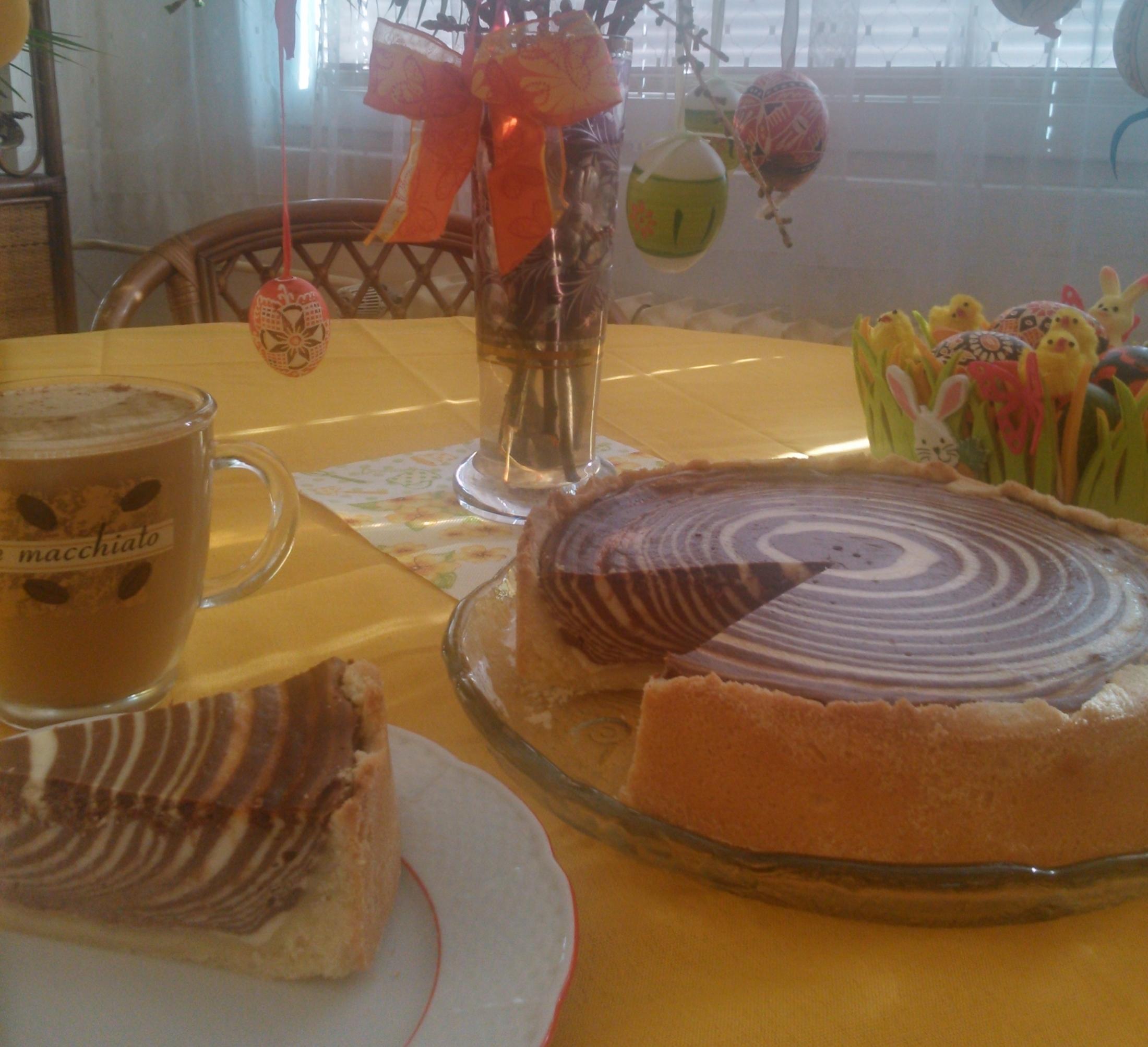 Tvarohový koláč Zebra