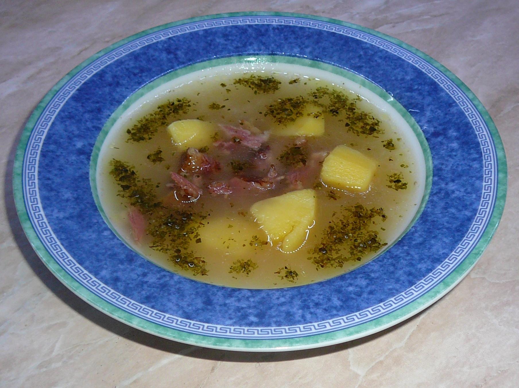 Uzená polévka z žebírek