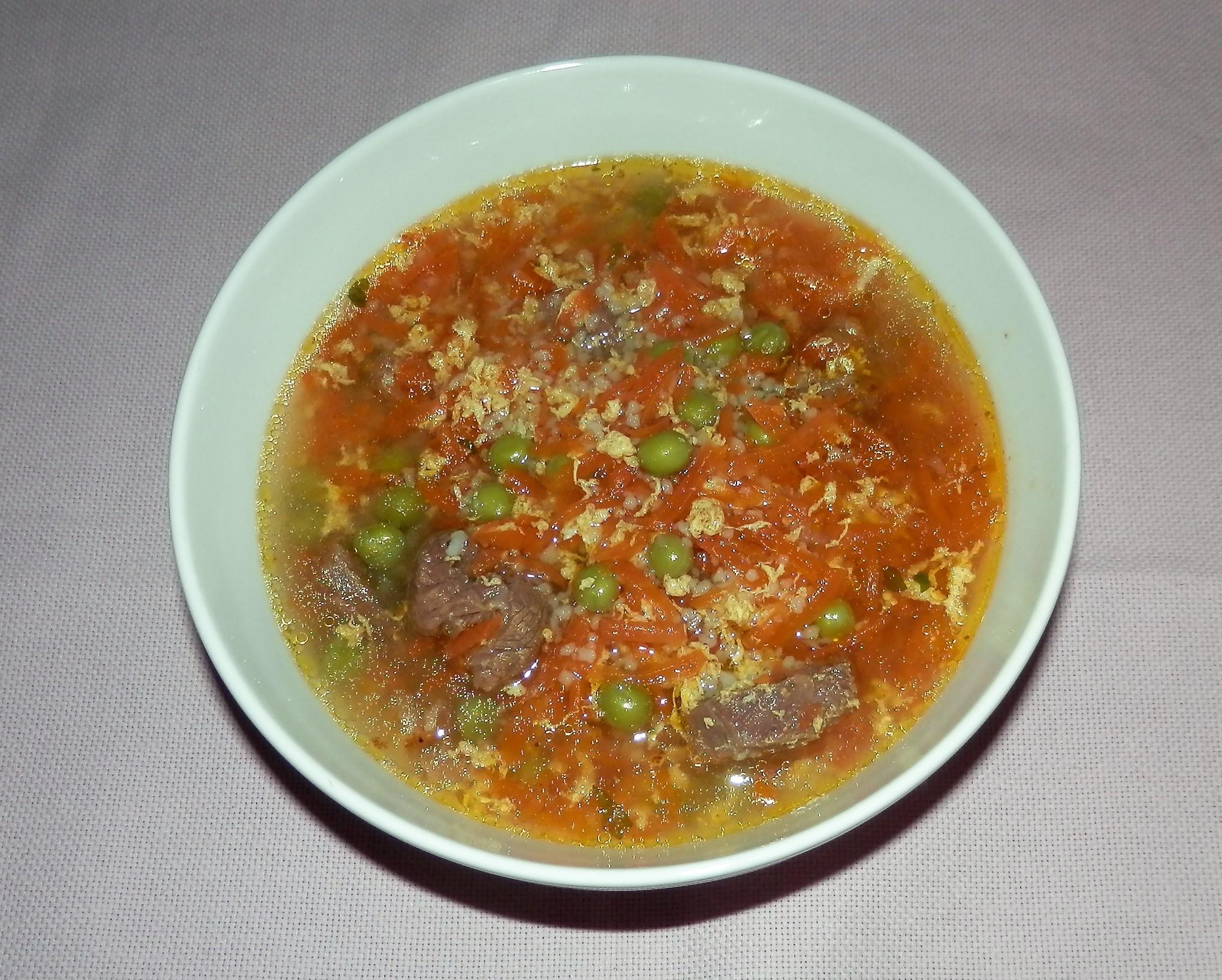 Netradiční hovězí polévka