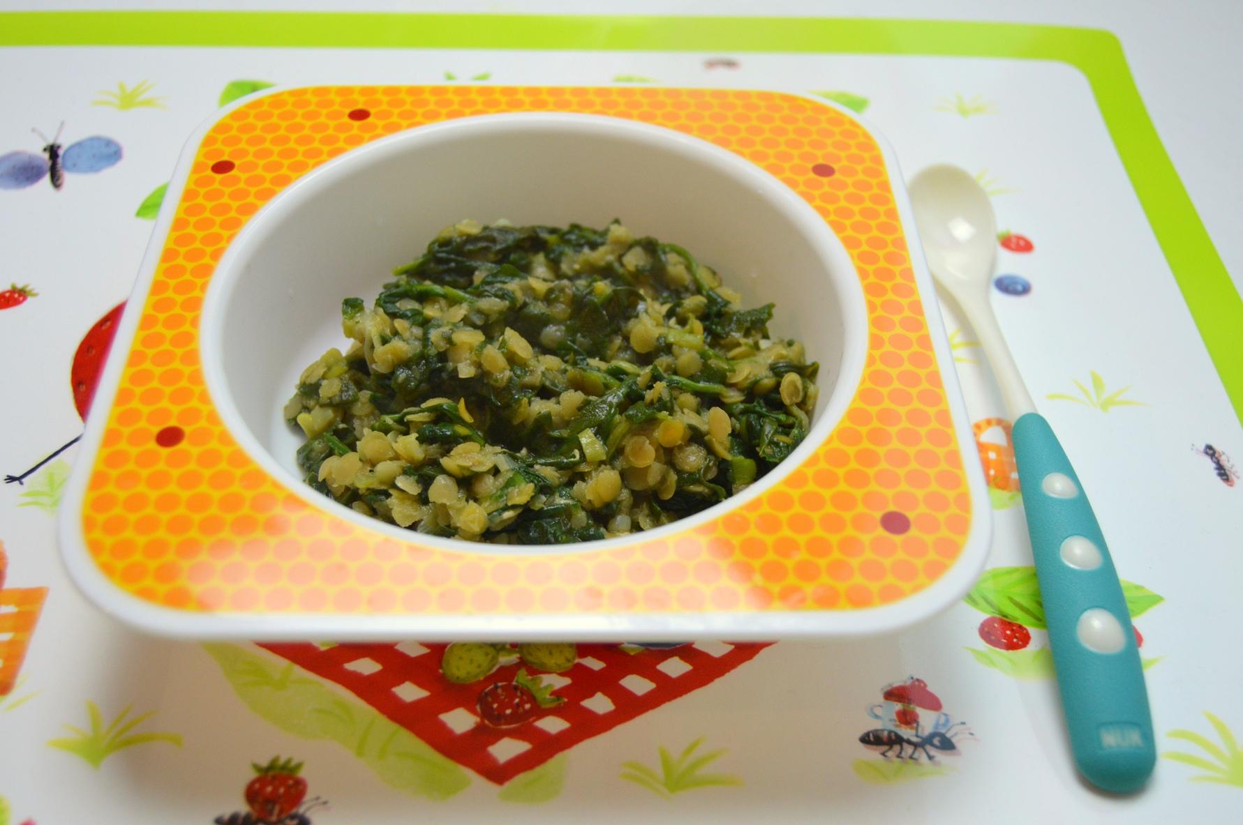 Fotografie receptu: Baby špenát s červenou čočkou pro nejmenší děti