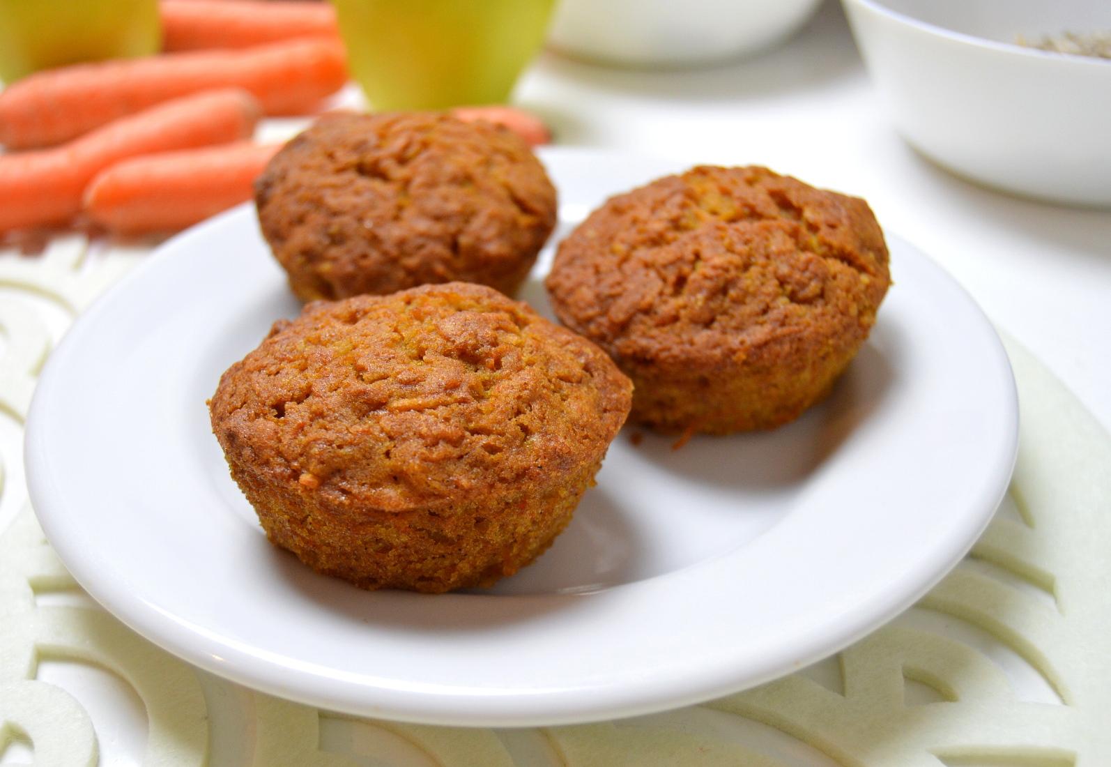 Výborné mrkvové muffiny