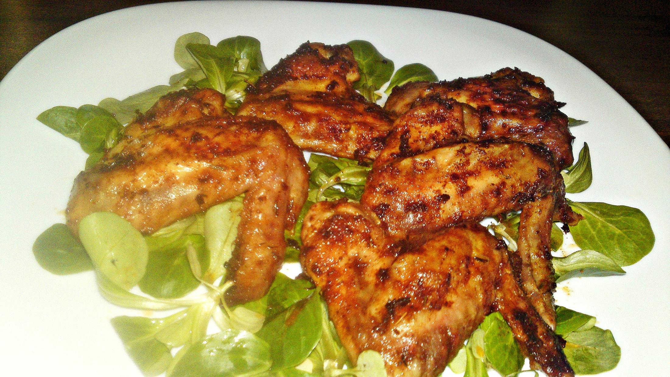 Pikantní marinovaná kuřecí křidélka