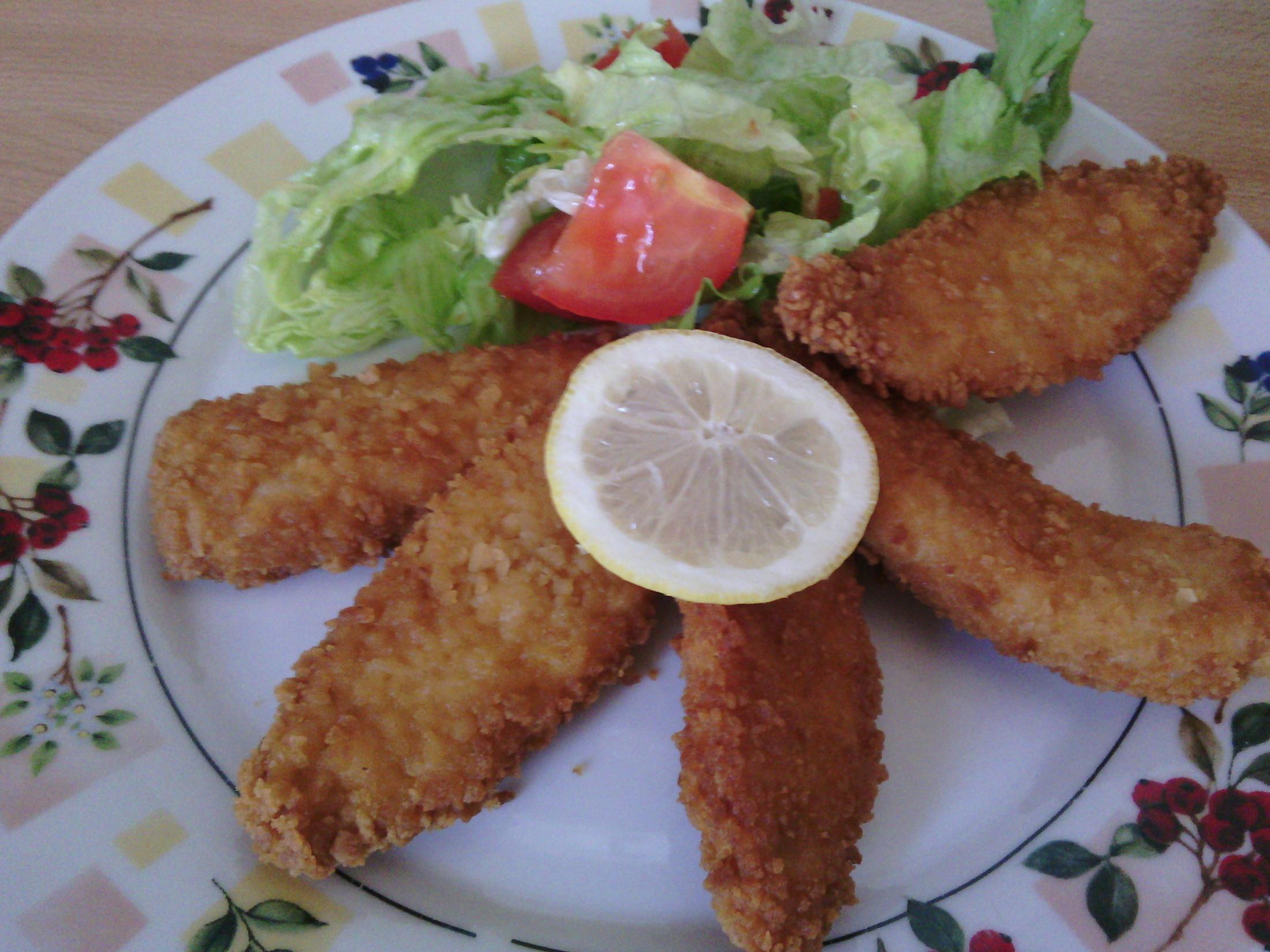 Fotografie receptu: Pikantní řízky z kuřete
