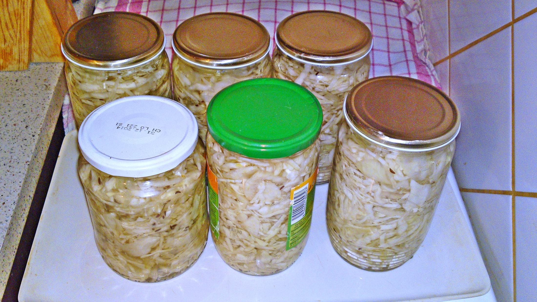 Fotografie receptu: Kvašené zelí do sklenic