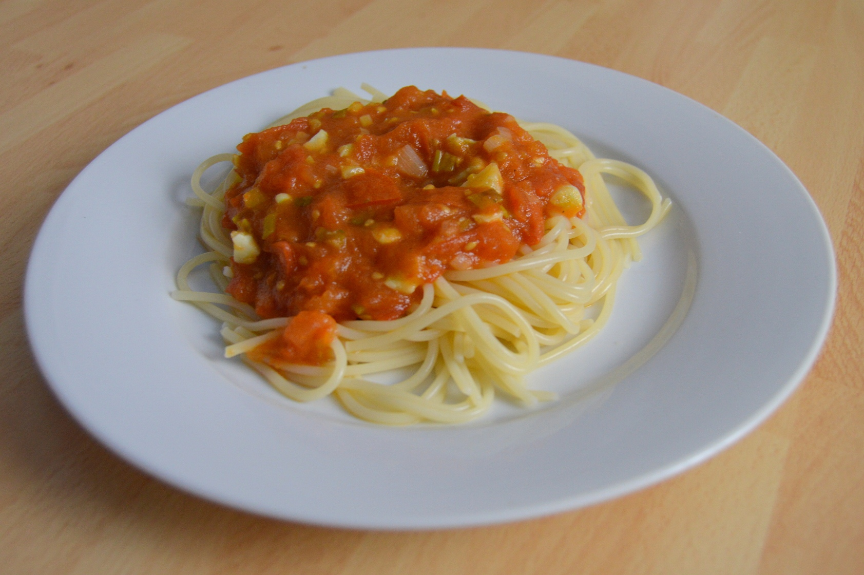 Fotografie receptu: Jednoduchá rajčatová omáčka na špagety