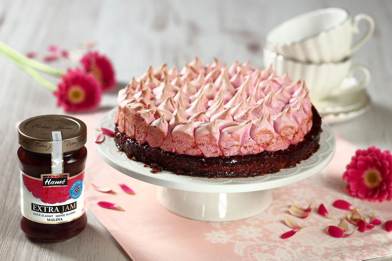 Hříšný pusinkový dort s džemem