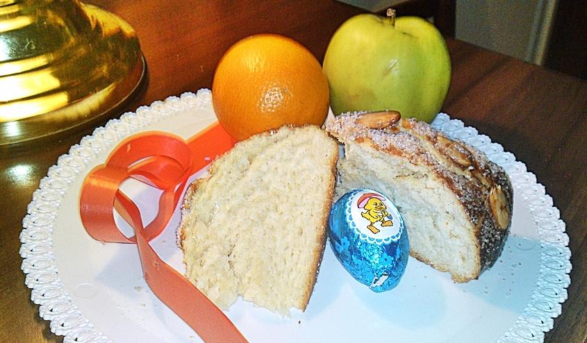 Fotografie receptu: Velikonoční mazanec s mandlemi