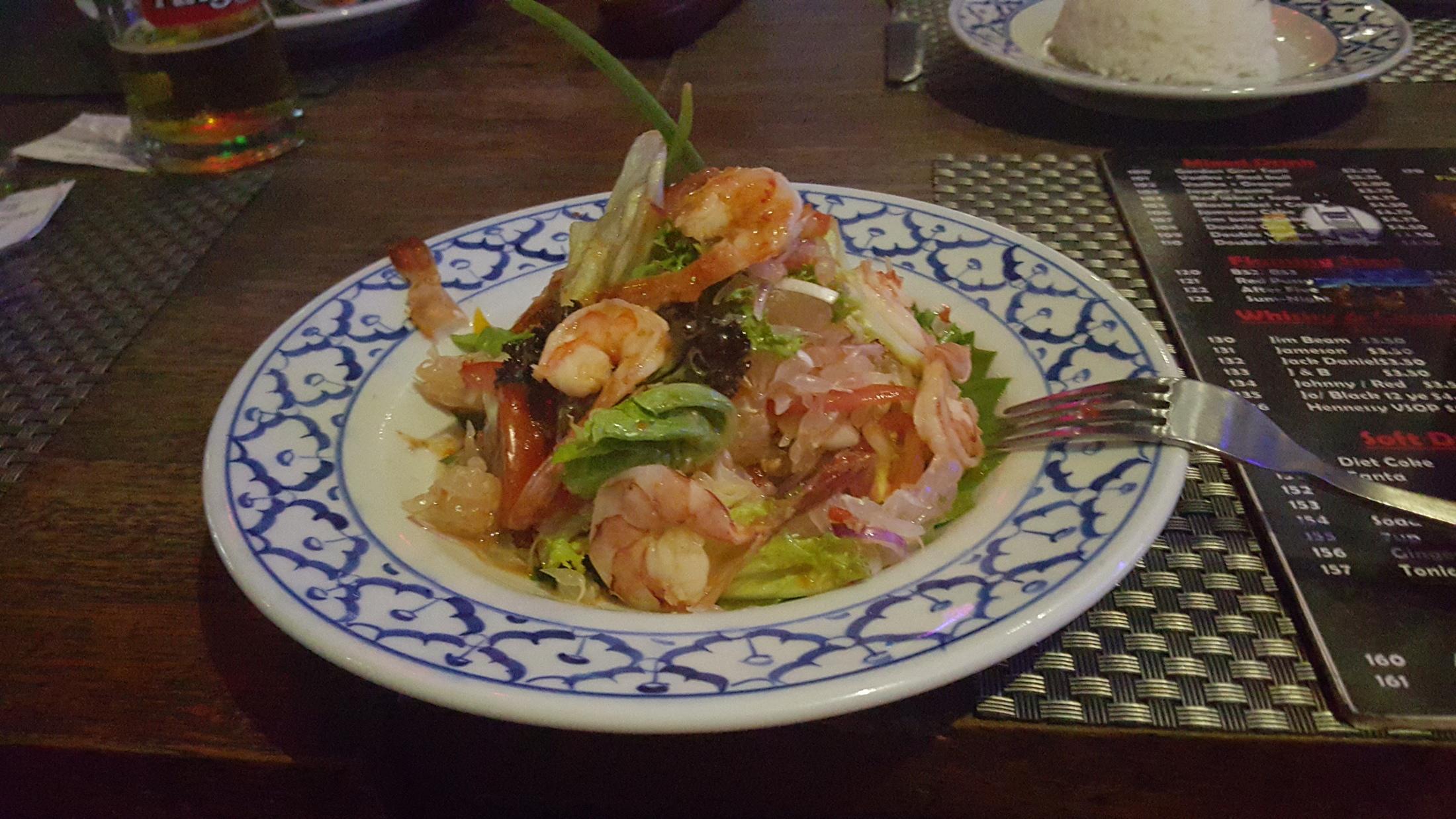Kambodžský pomelový salát