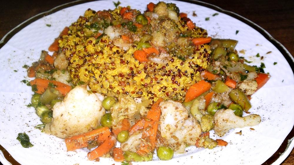 Quinoa s míchanou zeleninou