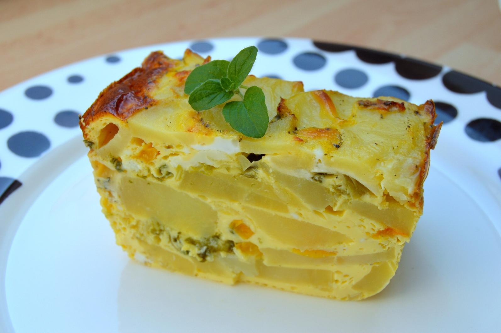 Vegetariánské zapékané brambory s nivou