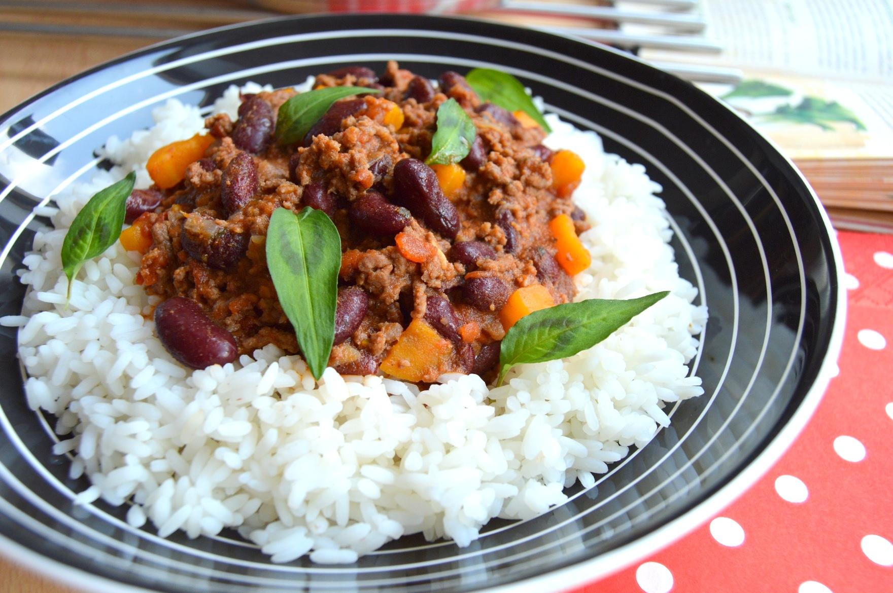 Chilli con carne z hovězího mletého masa