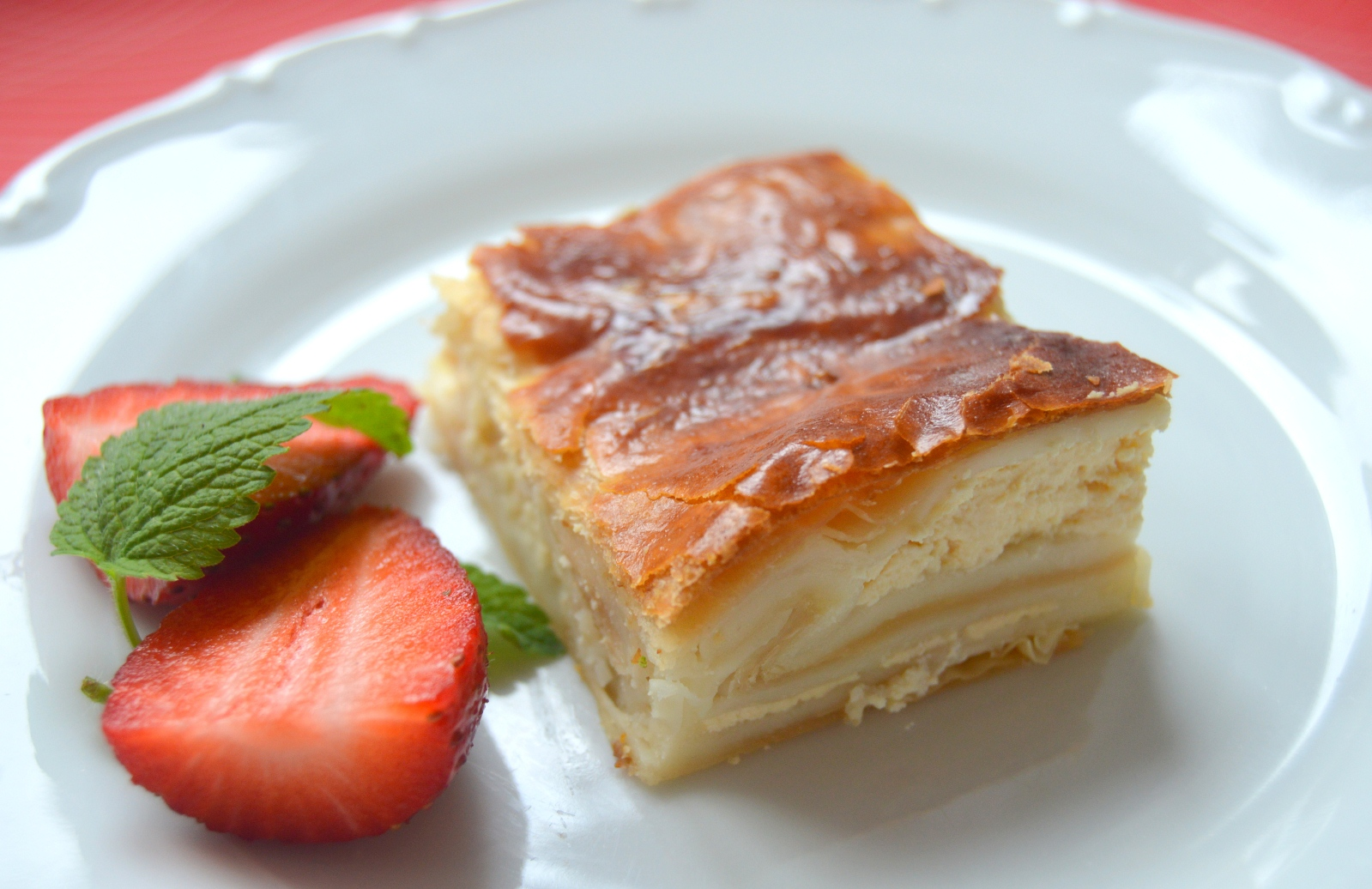 Listový koláč s tvarohem