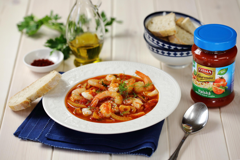 Středomořská rybí polévka s fenyklem