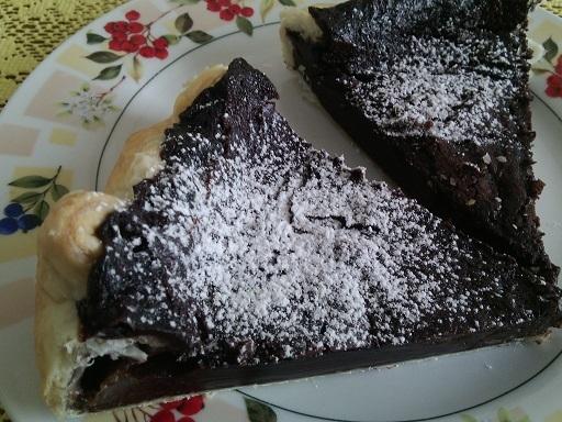 Minutkový koláč s pudinkem a smetanou