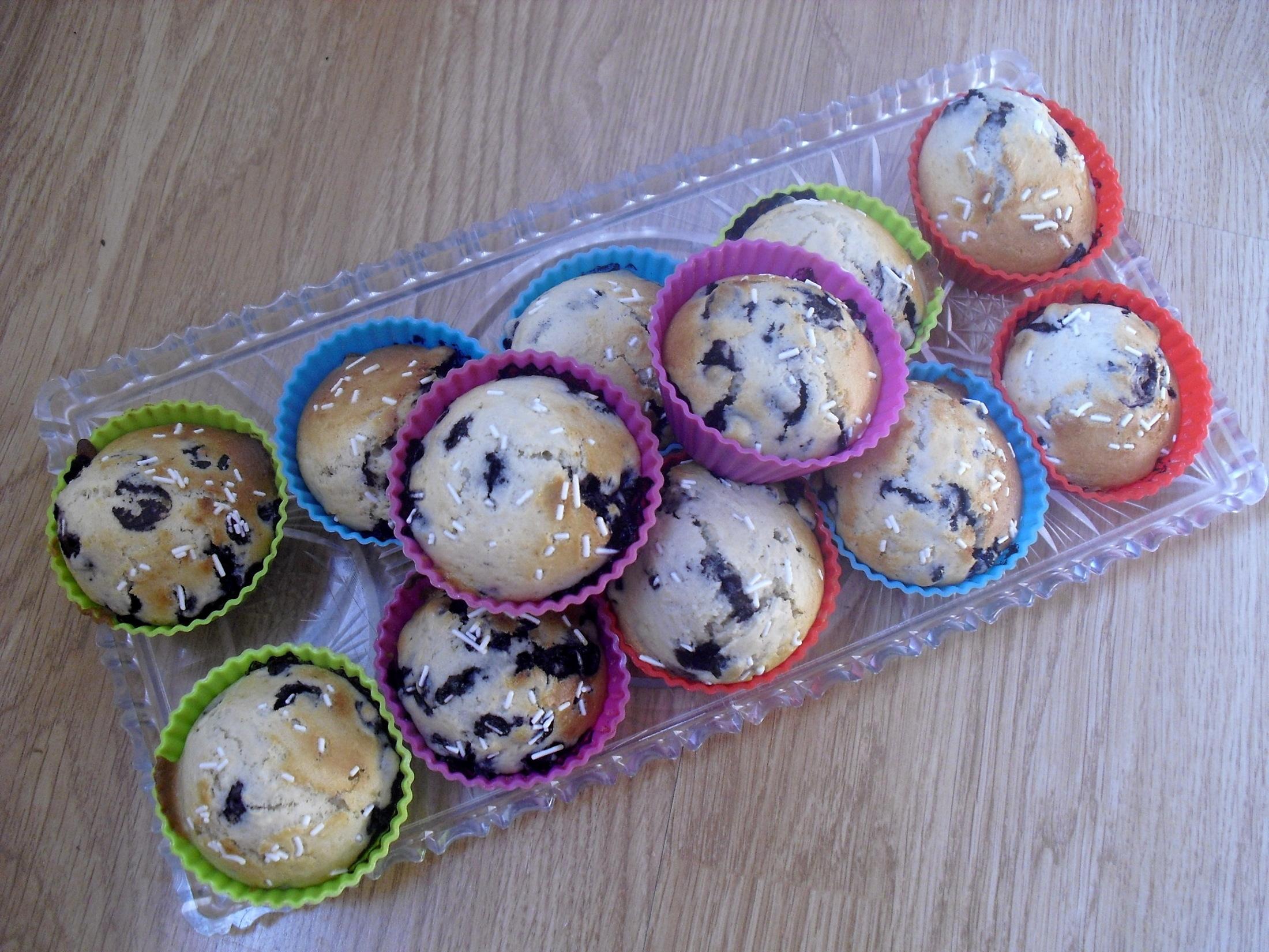 Chutné borůvkové muffiny