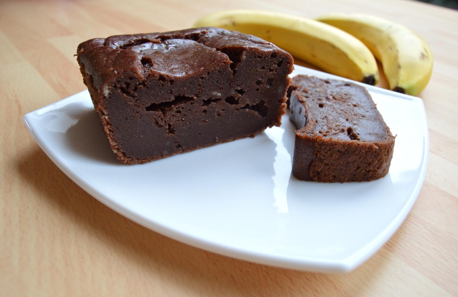 Banánový kakaový chlebíček