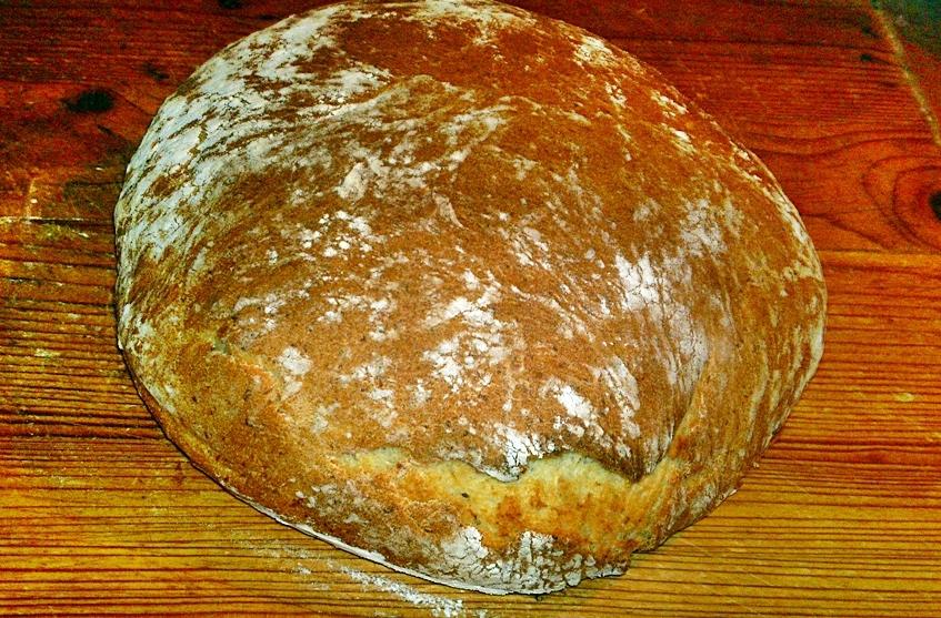 Bílý bramborový kmínový chléb mojí babičky