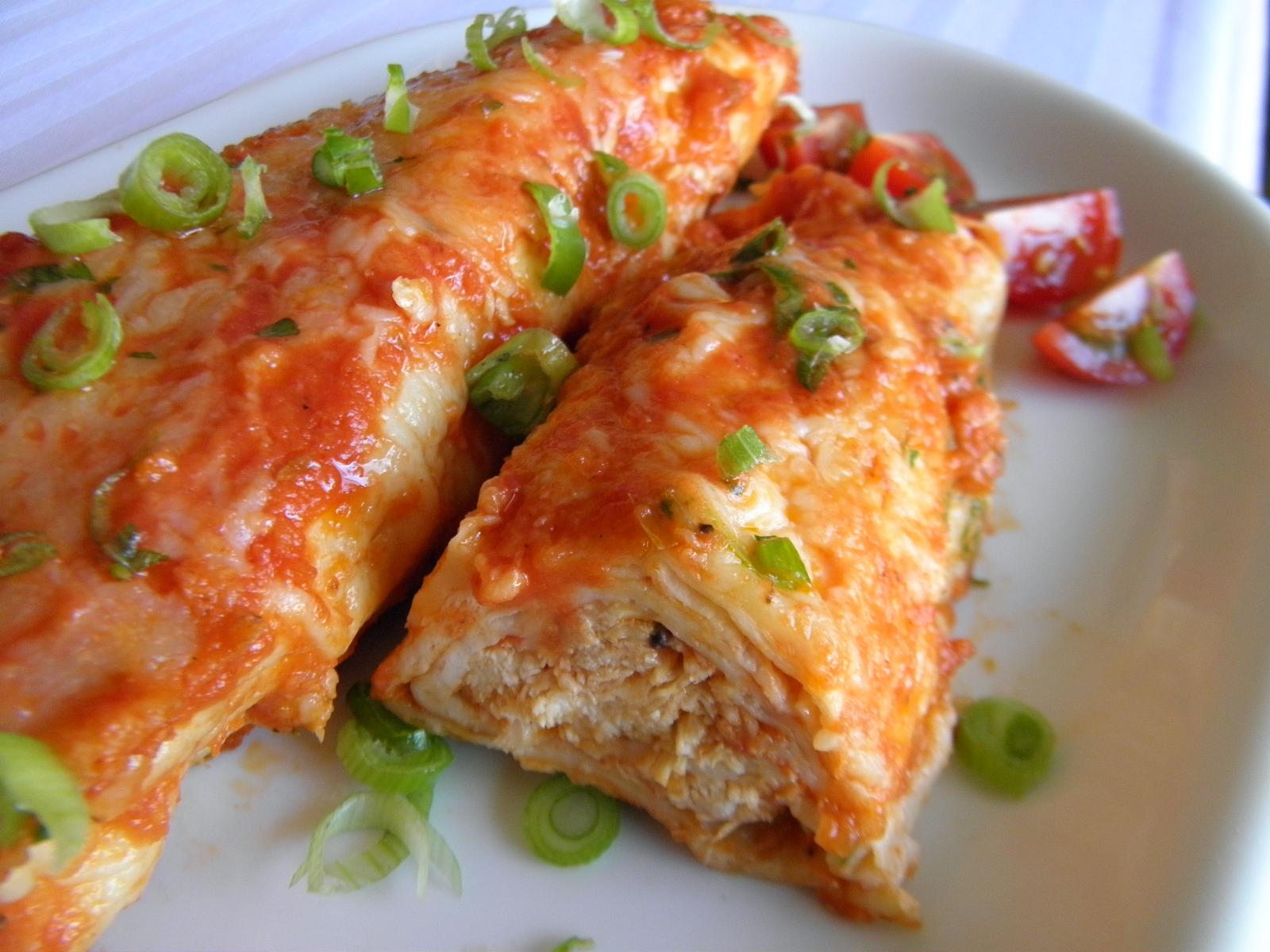 Enchiladas s kuřecím masem