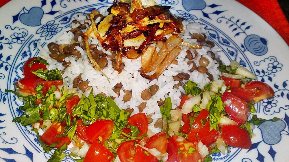 Mždara ze Sýrie - rýže s čočkou