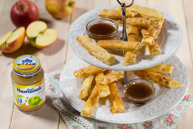 Jablíčkové hranolky s karamelovým dipem