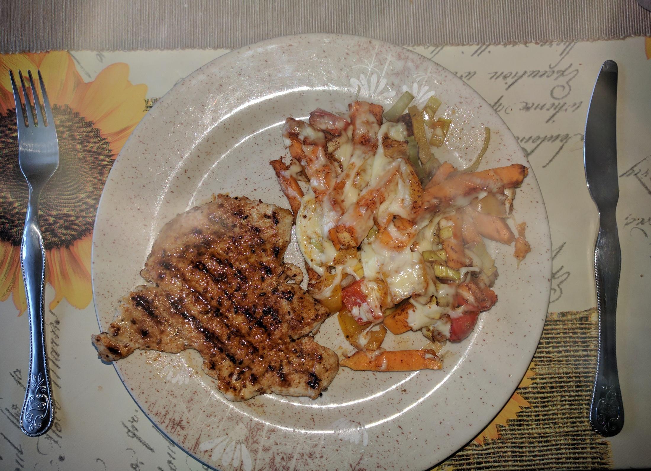 Vepřová pečeně se zeleninovou směsí