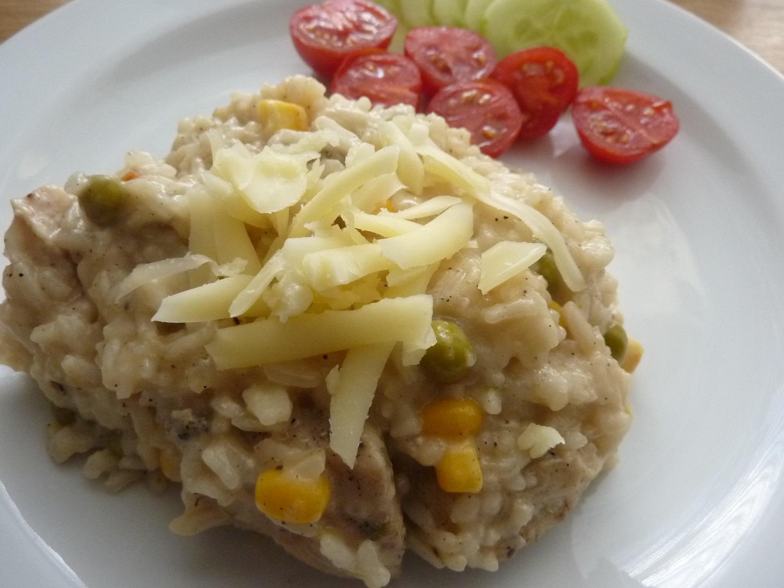 Krémové rizoto s kuřecím masem