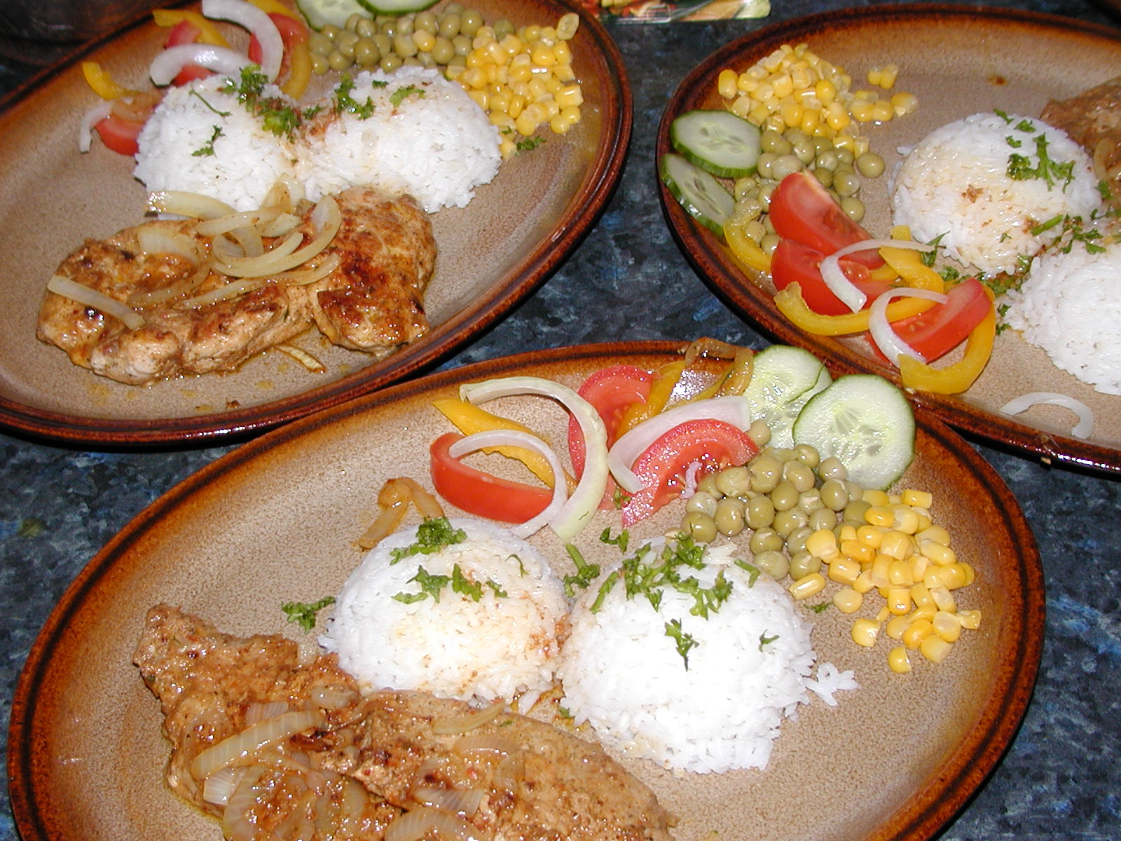 Fotografie receptu: Vepřový gyros s rýží