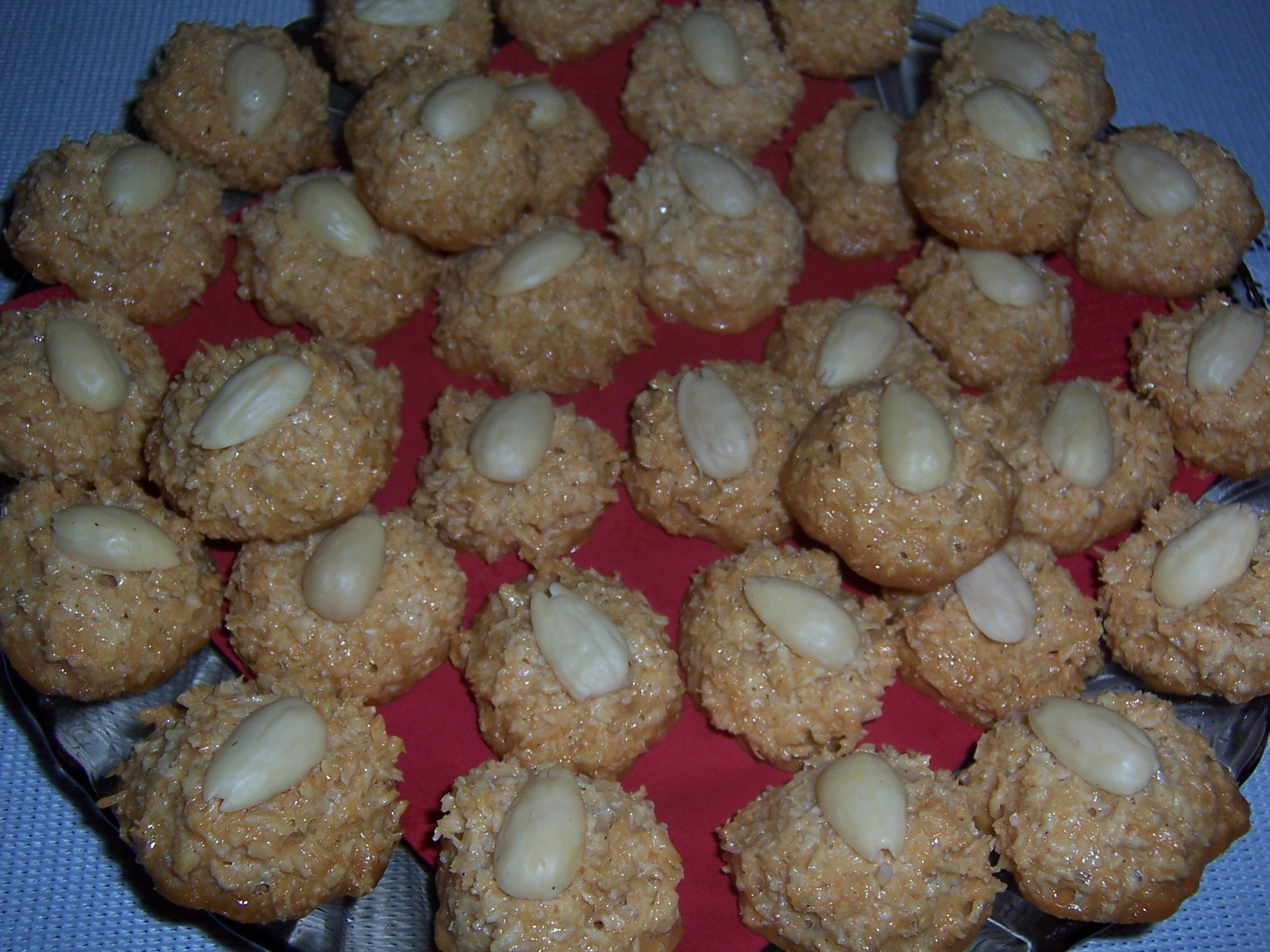 Vanilkové kokosky s mandlemi