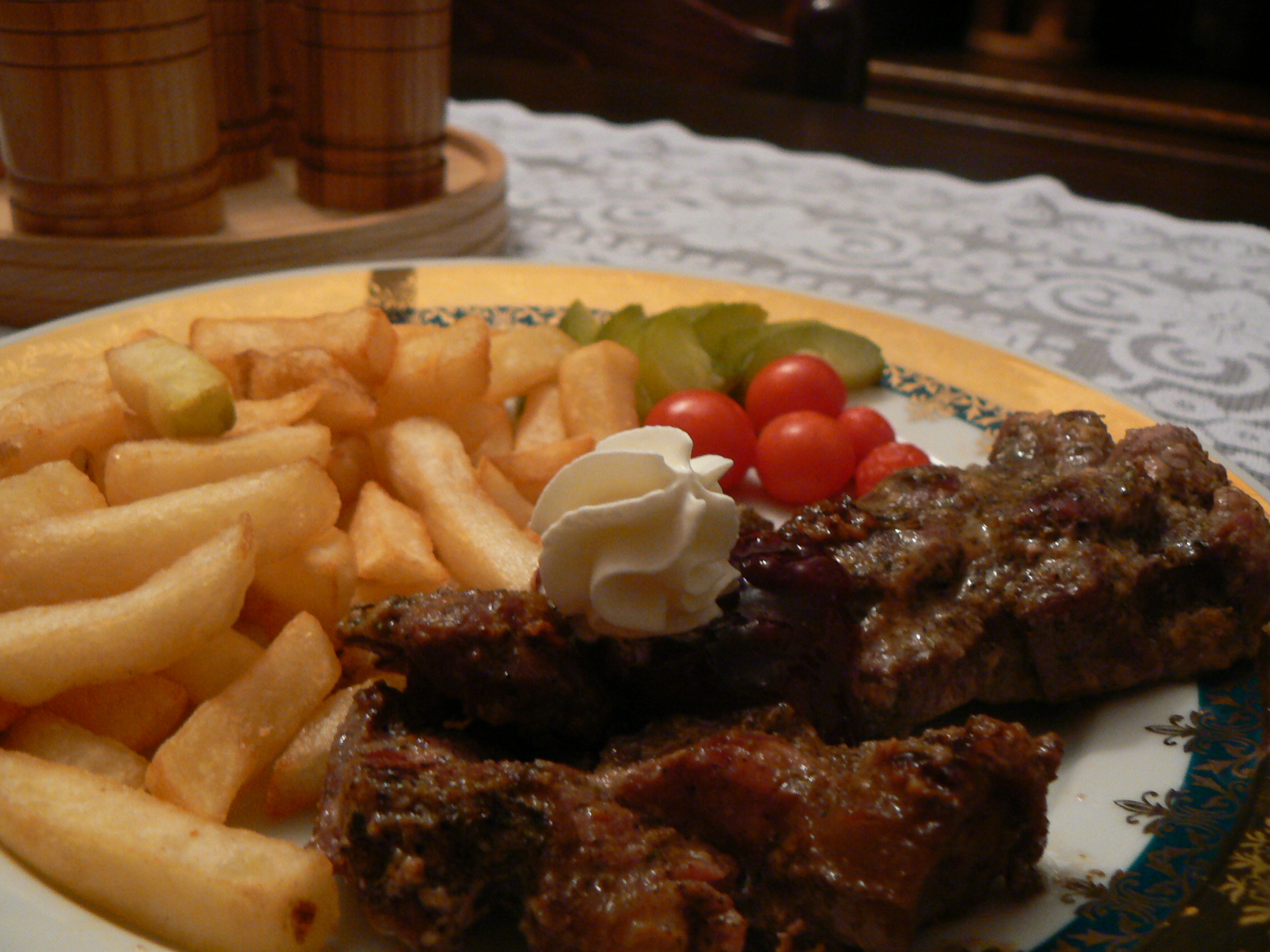Divoký kančí steak