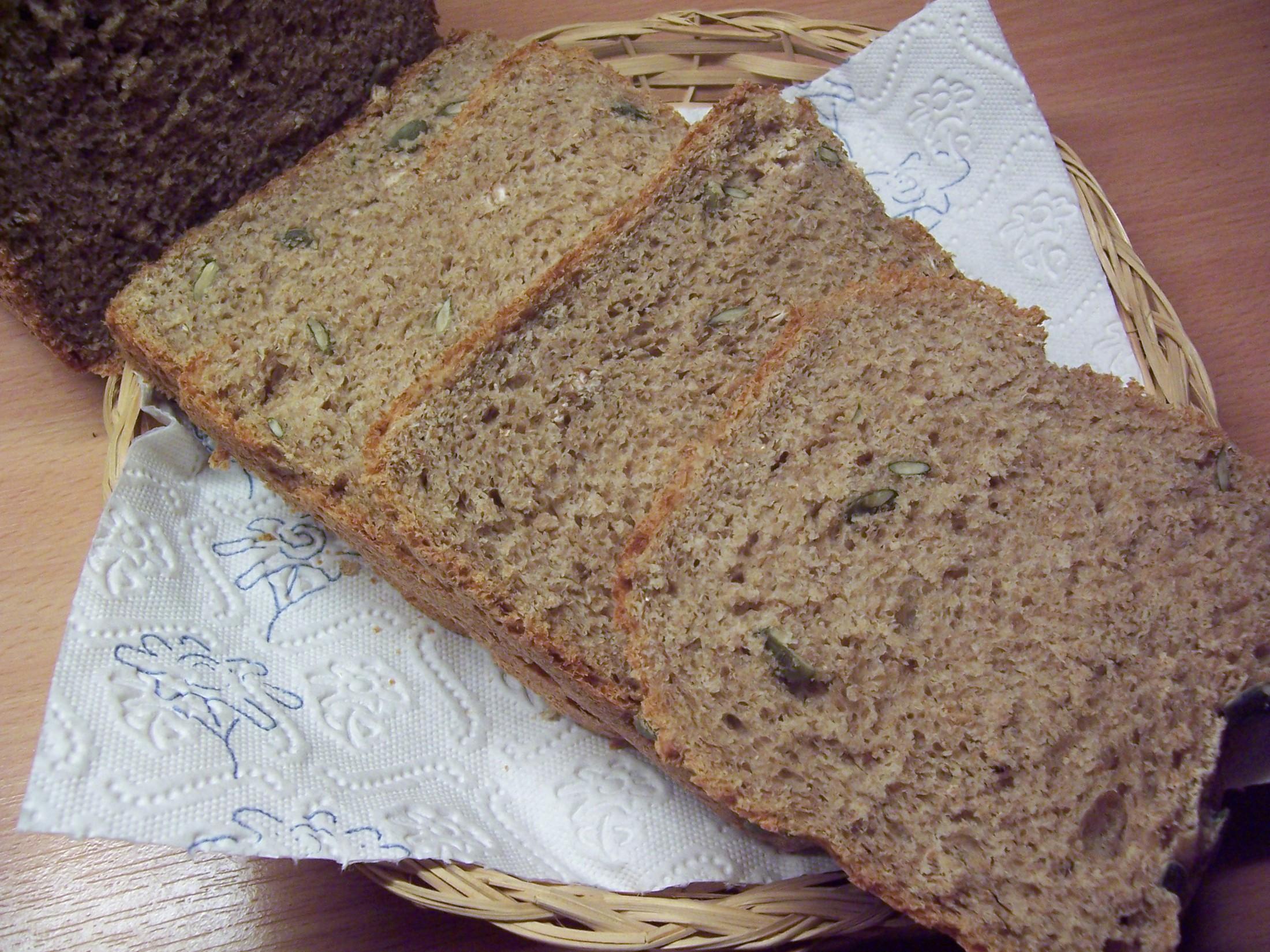 Celozrnný chléb s dýňovými semínky