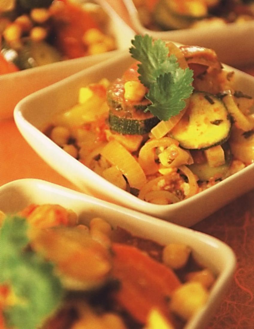 Marocká dušená zelenina