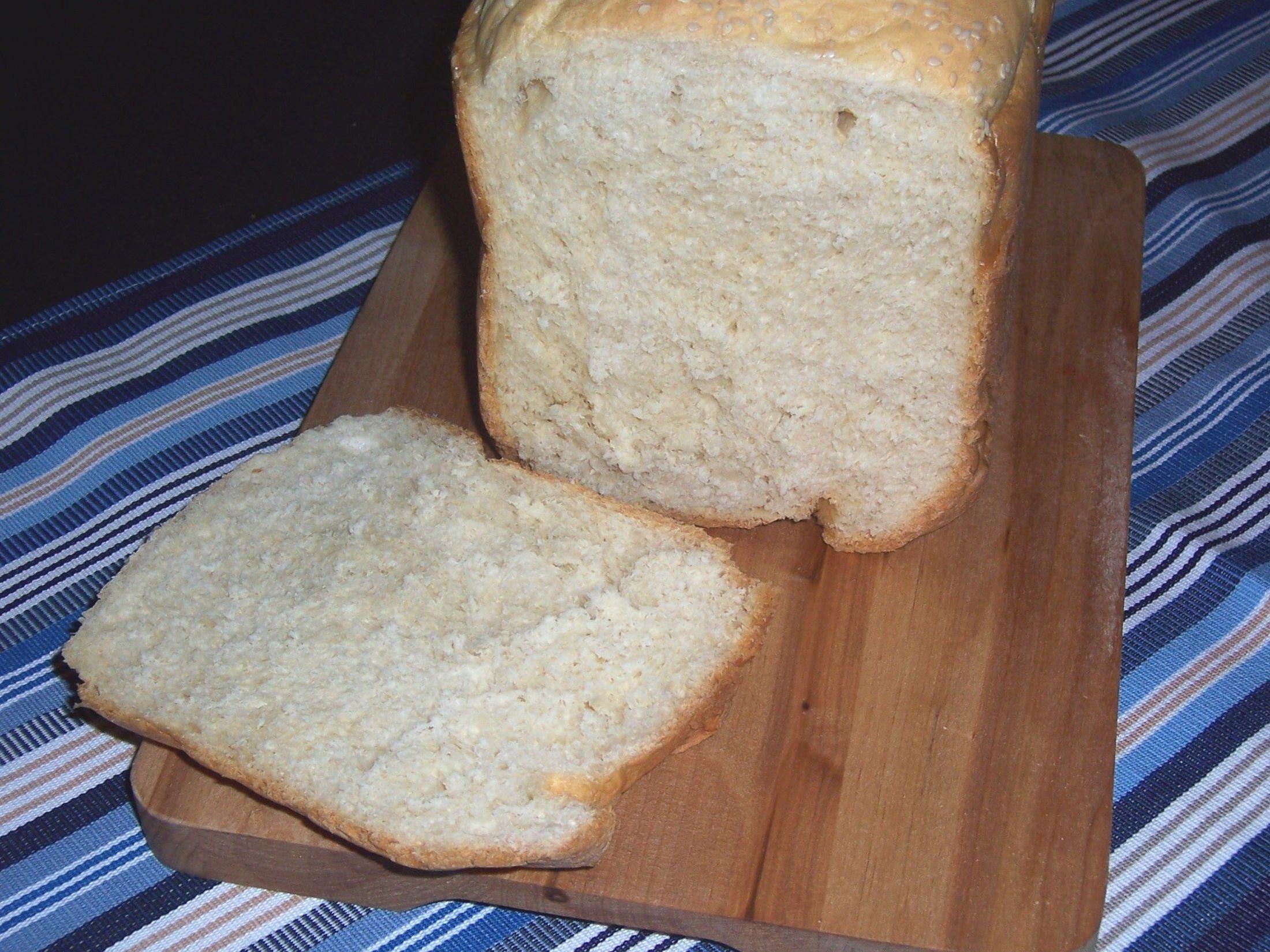 Vaječný světlý chléb z domácí pekárny
