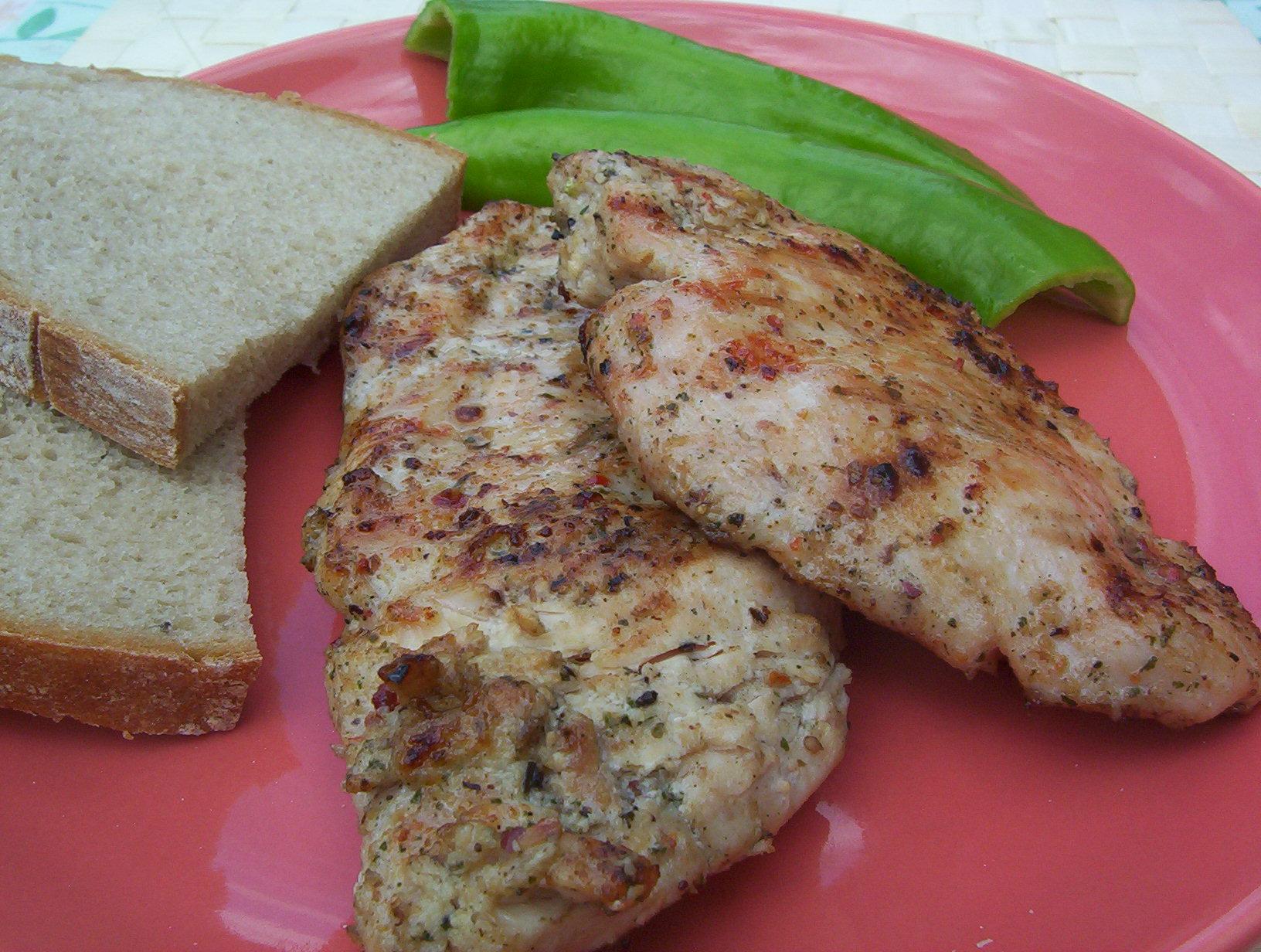 Fotografie receptu: Marinované kuřecí maso na grilu