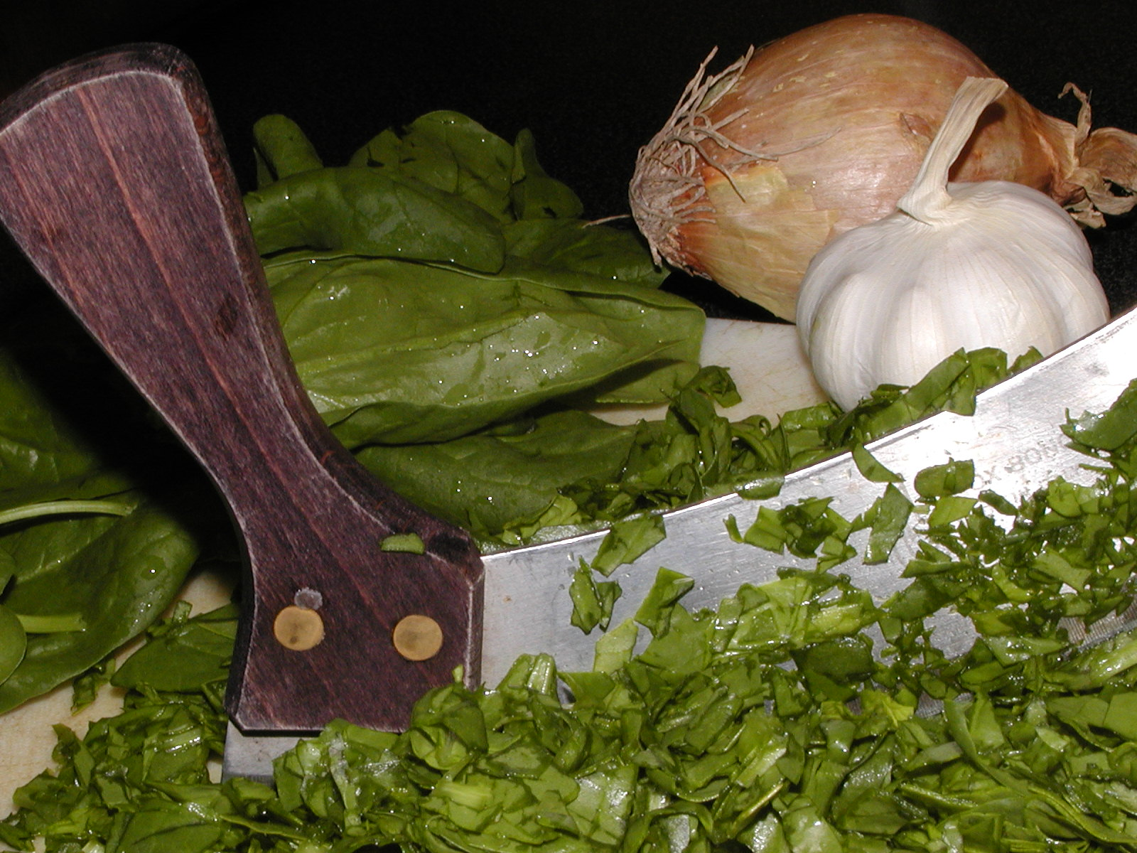 Fotografie receptu: Dušený špenát z čerstvých listů