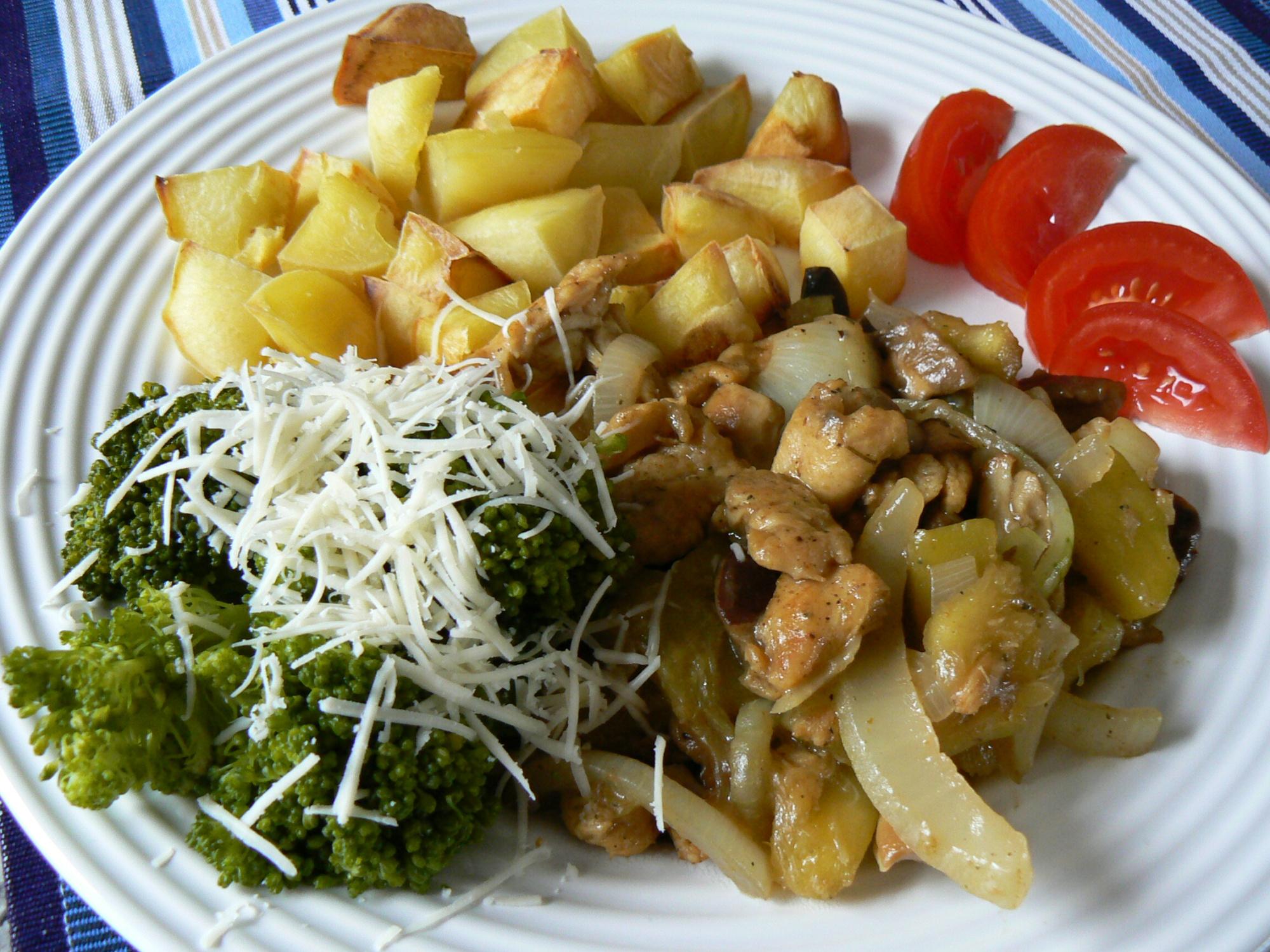 Fotografie receptu: Kuřecí na houbách