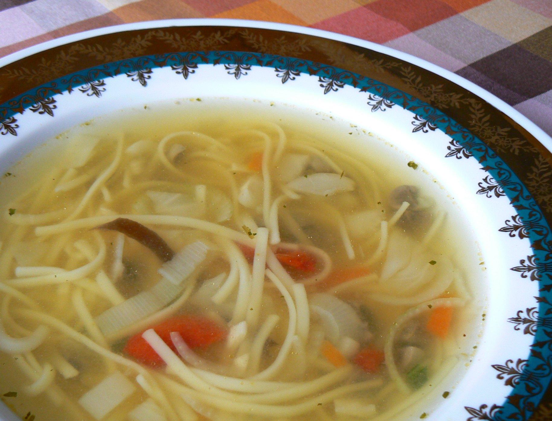 Polévka s čínskou směsí